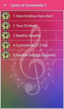 Commando 2 Songs Lyrics screenshot 1