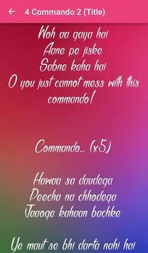 Commando 2 Songs Lyrics screenshot 5