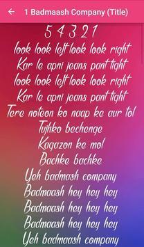 Badmaash Company Songs Lyrics screenshot 2