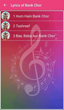 Bank Chor Songs Lyrics screenshot 1