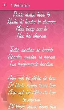 Besharm Songs Lyrics screenshot 3