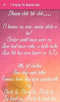 Bhootnath Returns Songs Lyrics apk screenshot