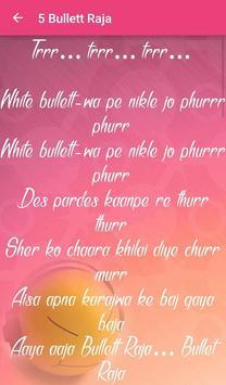 Lyrics of Bullet Raja تصوير الشاشة 4