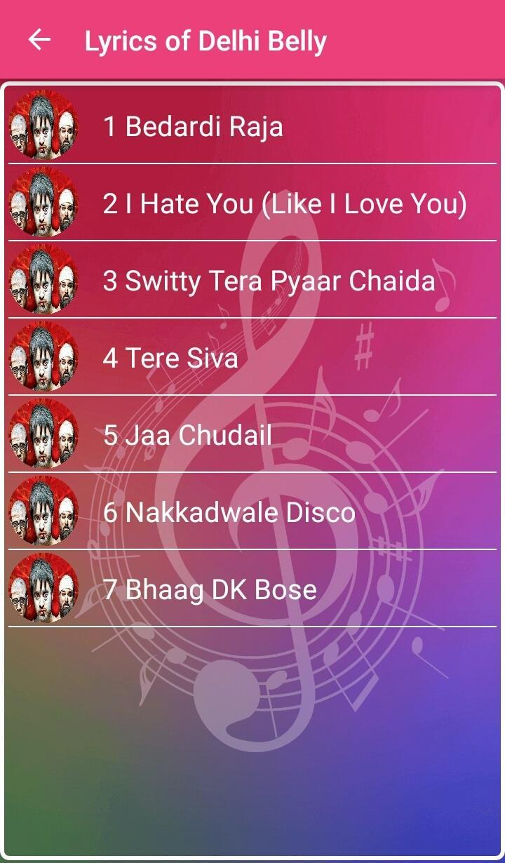 Delhi Belly Songs Lyrics for Android - APK Download