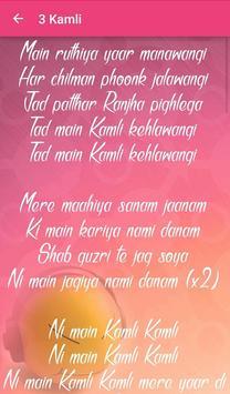 Dhoom 3 Songs Lyrics apk screenshot