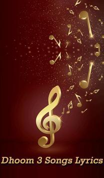 Dhoom 3 Songs Lyrics poster