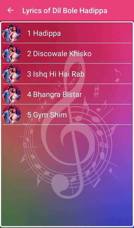 dil bole hadippa songs download