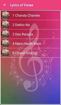 Fanaa Songs Lyrics screenshot 15