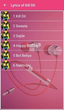 Kill Dil Songs Lyrics apk screenshot