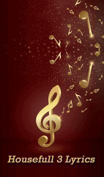 Housefull 3 Songs Lyrics poster