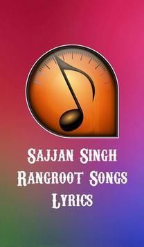 Sajjan Singh Rangroot Songs Lyrics poster