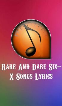 Rare And Dare Six-X Songs poster