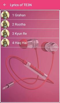 TE3N Songs Lyrics screenshot 1