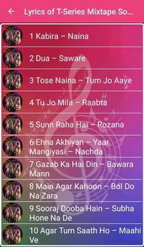 Lyrics of T-Series Mixtape Songs screenshot 1