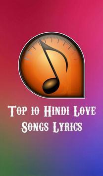 Top 10 Hindi Love Songs Lyrics poster