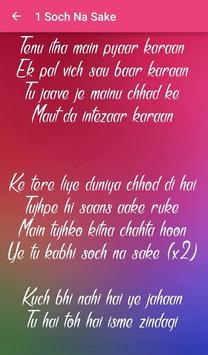 Top 10 Hindi Love Songs Lyrics screenshot 18