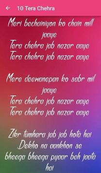 Top 10 Hindi Love Songs Lyrics screenshot 23