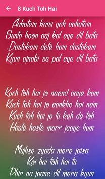 Top 10 Hindi Love Songs Lyrics screenshot 22