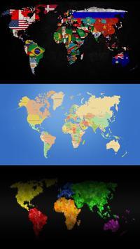 World map. Live wallpapers screenshot 1