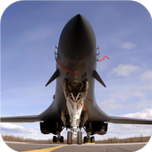 Airplanes. Military wallpapers icon