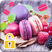 Sweet Macarons HD Wallpapers Security Pattern Lock icon