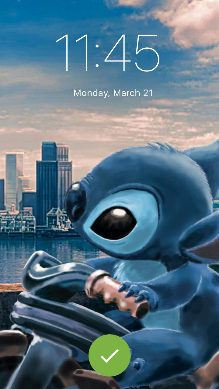Stitch Wallpaper Lilo Funny Cute Pin Lock Screen For Android