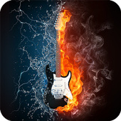 Fire Guitar Wallpaper icon