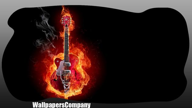 Fire Guitar Wallpaper apk screenshot