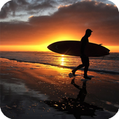 Sunset Surf Live Wallpaper icon