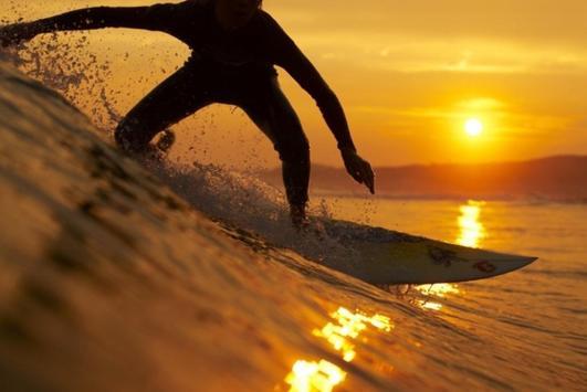Sunset Surf Live Wallpaper poster
