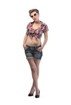 Girl with Tatto Wallpaper poster