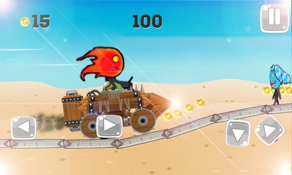 Super FireBoy - WaterGirl Run screenshot 2