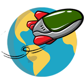 Flying Spaceship Planet Escape icon