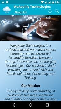 WeApplify Technologies screenshot 1
