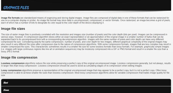 Web Graphics Education apk screenshot