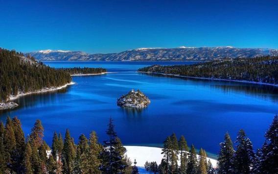Galaxy S5 lakes scenery apk screenshot