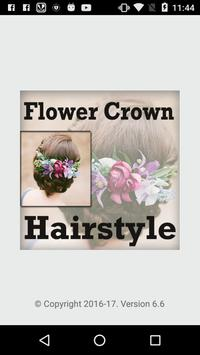 Wedding Flower Crown Hairstyle poster