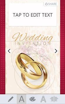 wedding invitations card maker poster wedding invitations card maker apk screenshot