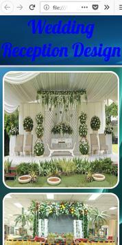 Wedding Reception Design poster