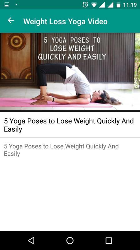 Weight Loss Yoga VIdeos Screenshot 5