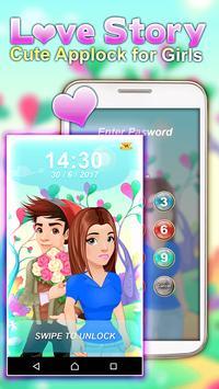 Love Story – Cute Applock for Girls poster