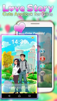 Love Story – Cute Applock for Girls apk screenshot