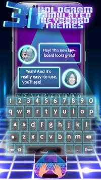 3D Hologram Simulated Keyboard Themes poster