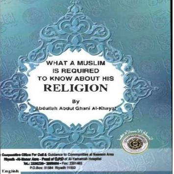 What a Muslim is required poster