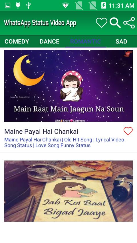 whatsapp video status download hindi old song