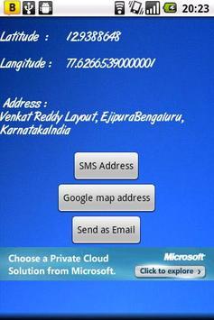 Address of Current Location apk screenshot