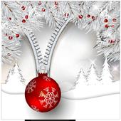 White Christmas Pattern Lock Screen icon