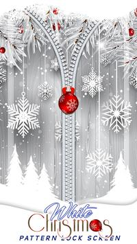 White Christmas Pattern Lock Screen poster