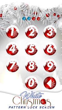 White Christmas Pattern Lock Screen screenshot 2