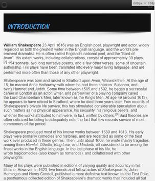William Shakespeare Biography screenshot 1